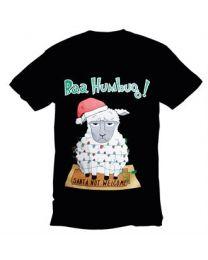 "Kerst T-shirt ""Baa Humbug"" Heren"