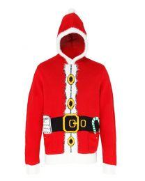 Kersttrui Santa Hooded Heren